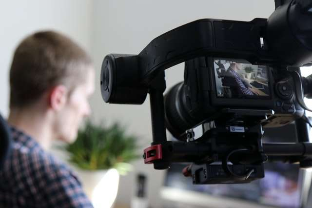 blurred filming of man