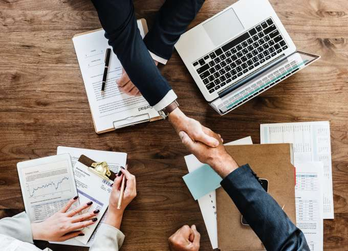 Handshake over a business deal